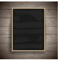Blank vintage chalk board background vector