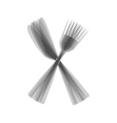 Fork and knife sign  gray icon shaked at vector