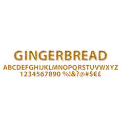 gingerbread alphabet sweet vector image