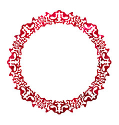 red celtic frame vector image