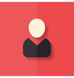 Person icon flat design vector