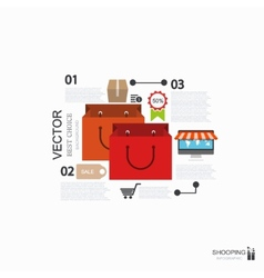 modern shooping infographic background vector image