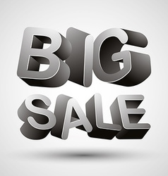 Big sale lettering vector