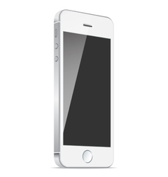 Realistic white mobile apple iphone 5s or 6 plus vector image