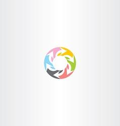circle arrow colorful symbol sign vector image