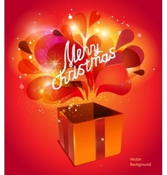 christmas card with red explosion vector image