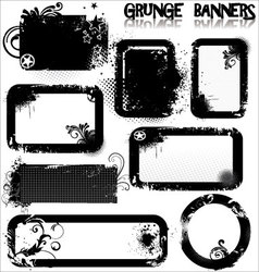Empty grunge banners vector