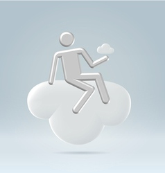 Sitting on a cloud vector image