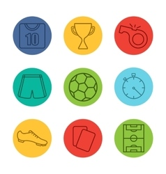 Soccer equipment icons vector
