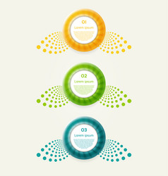 abstract infographics options banner vector image vector image