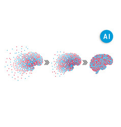 artificial intelligence brain vector image