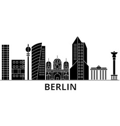 berlin architecture city skyline travel vector image