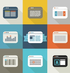 Browsers vector image vector image