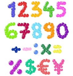 bubbles numbers vector image vector image