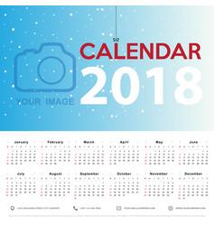 calendar 2017 template design week starts from vector image vector image