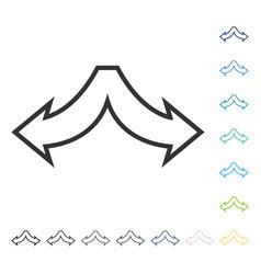 Choice arrows left right icon vector