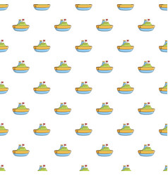 Colorful toy ship pattern vector
