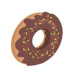 Donut logo sweet doughnut design flat food vector