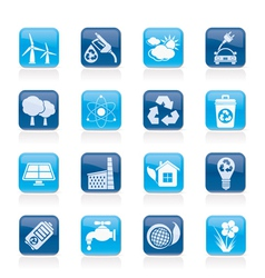 Ecology and recycling icons vector