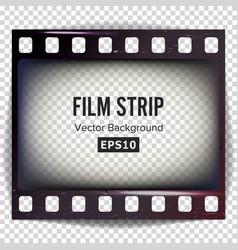 film strip frame strip blank scratched vector image vector image