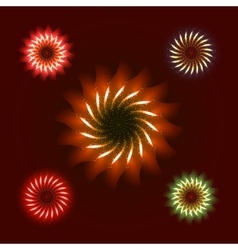 Firework ornament set vector