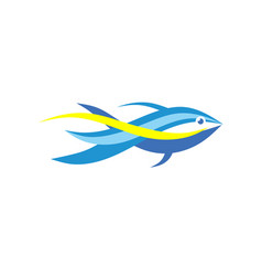 fish abstract logo template vector image vector image