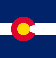 flag of colorado usa vector image