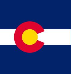 Flag of colorado usa vector