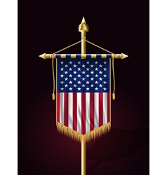 Flag of united states of america vertical banner vector