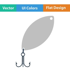 Flat Design Single fishing vector image