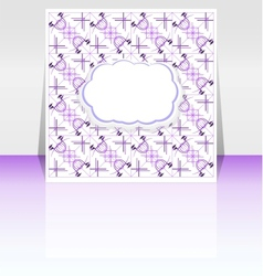 Flyer or cover empty cloudy design vector image