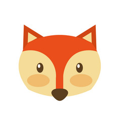 Forest fox animal wildlife nature fauna vector
