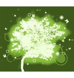 Geen tree vector image vector image