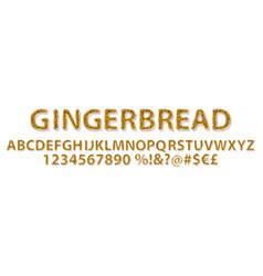 gingerbread alphabet sweet vector image