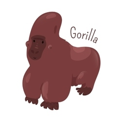 Gorilla isolated Child fun pattern icon vector image