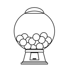 gum balls dispenser candy icon image vector image vector image