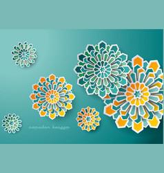 Islamic design geometric art background vector