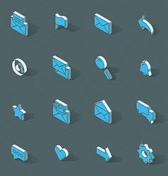 isometric flat design icon set vector image