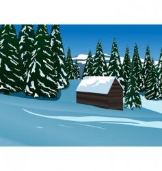 mountain idyll vector image