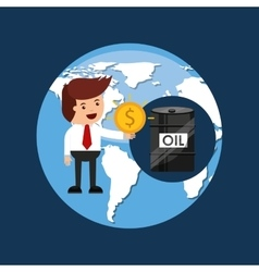 Oil and petroleum industry businessman money vector