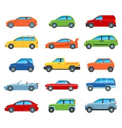 Passenger Car Icons vector image