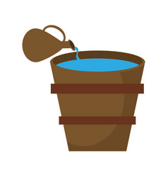 Pitcher pouring water bucket image vector