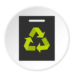 recycling icon circle vector image