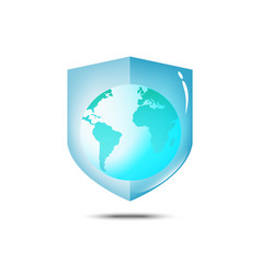 save world save life and world protection vector image vector image