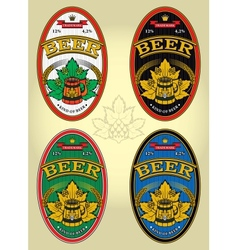 set of labels for beer vector image vector image