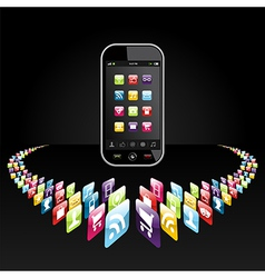 Smartphone apps icons presentation vector