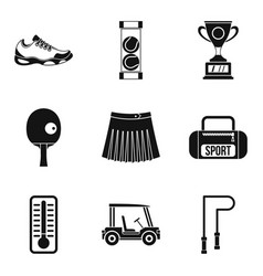 Sport workout icons set simple style vector