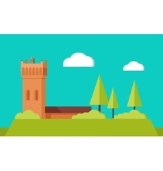 Summer vacation touristic landscape flat vector