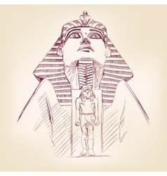 Tutankhamun egyptian pharaoh llustration vector