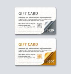 Voucher gift card template vector